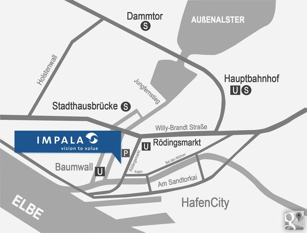Karte IMPALA